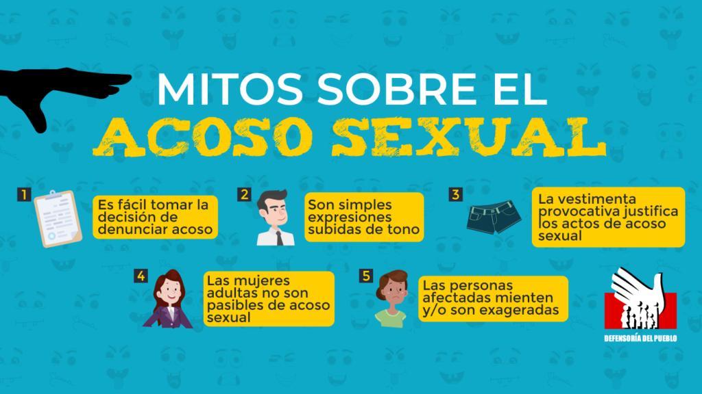 Mitos Sobre El Acoso Sexual Defensoria Mujer