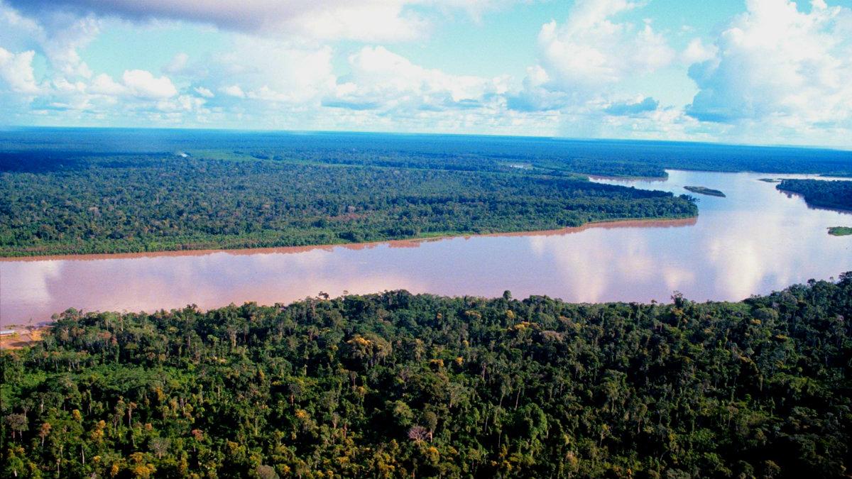 Panorámica del rio Amazonas