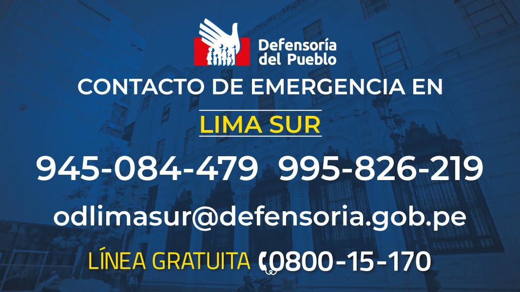 Gráfico de contacto de emergencia