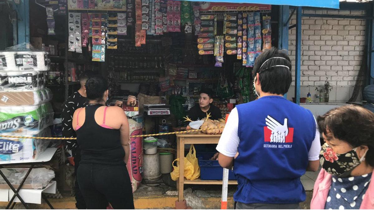 Defensoría del Pueblo exhorta a la municipalidad provincial de Trujillo a fiscalizar medidas sanitarias en mercados