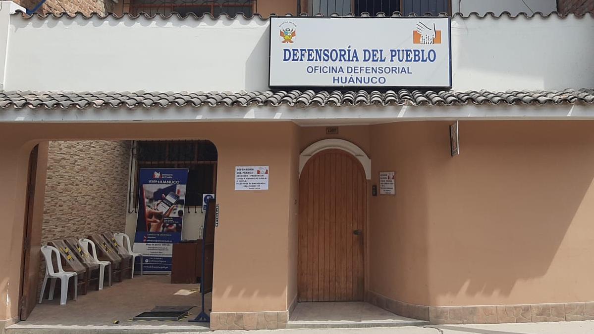 oficina de la Defensoría del Pueblo en Huánuco