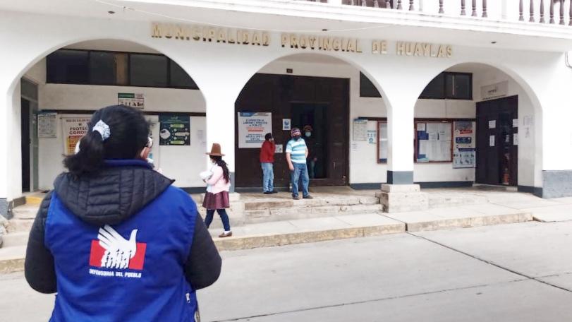 Defensoría del Pueblo: Municipalidad de Huaylas debe dejar sin efecto medida de suspensión de plazos administrativos