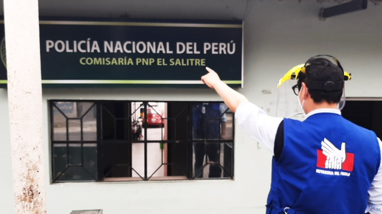 Foto de fachada de comisaría de Salitre